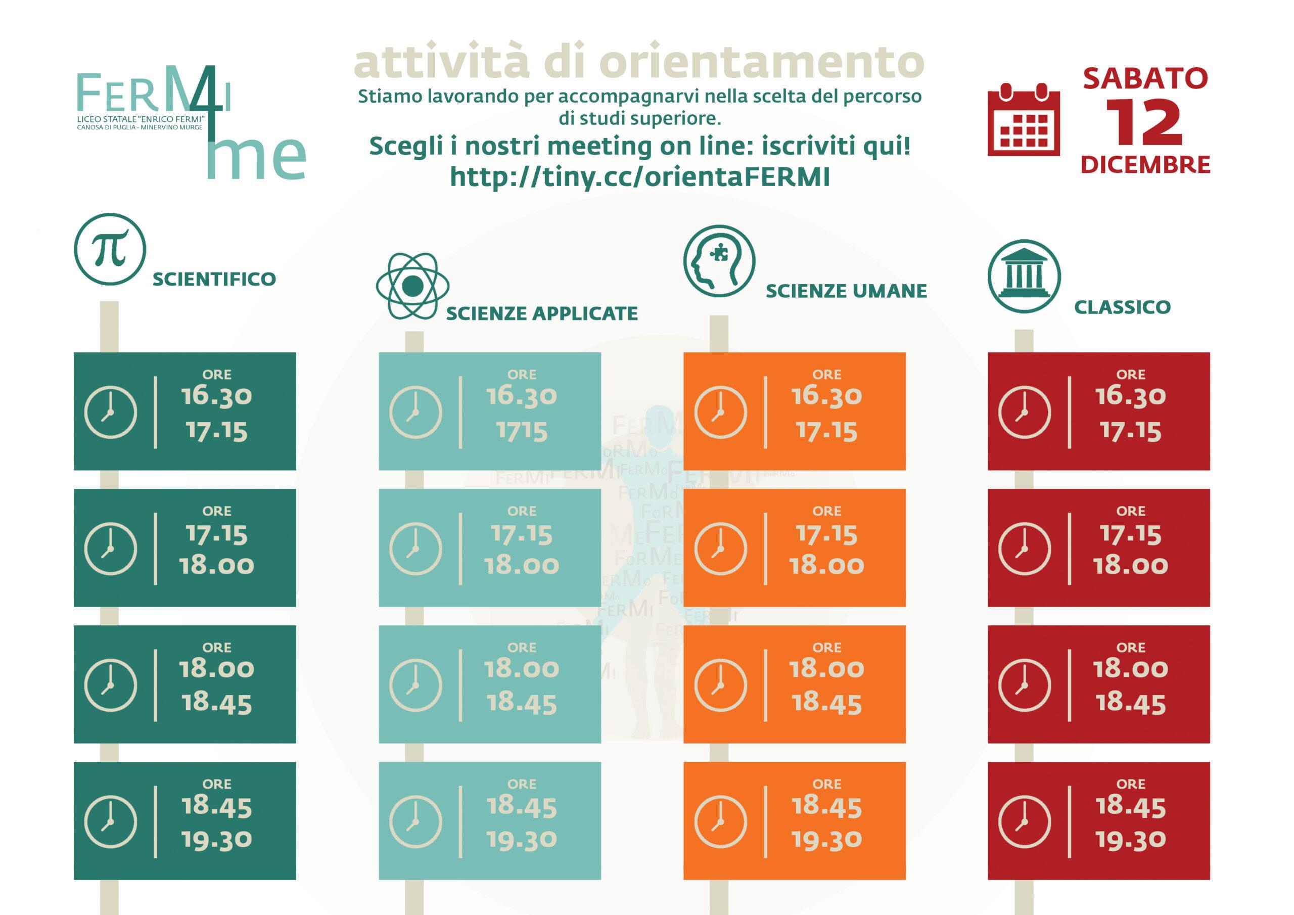Orientamento 2021-2022 save the date